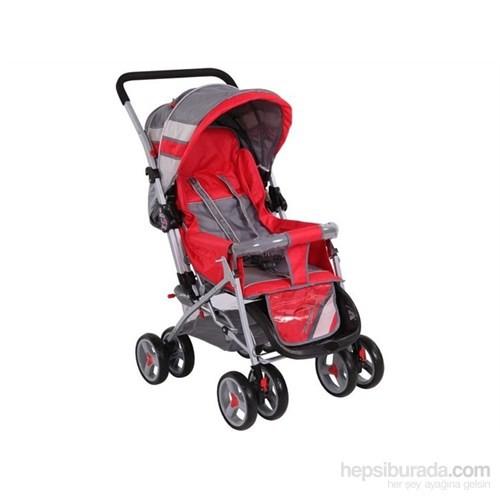 Babyhope 604 Çift Yönlü Puset / Kırmızı-Gri