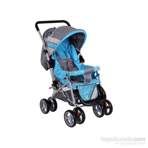Babyhope 604 Çift Yönlü Puset / Mavi - Gri