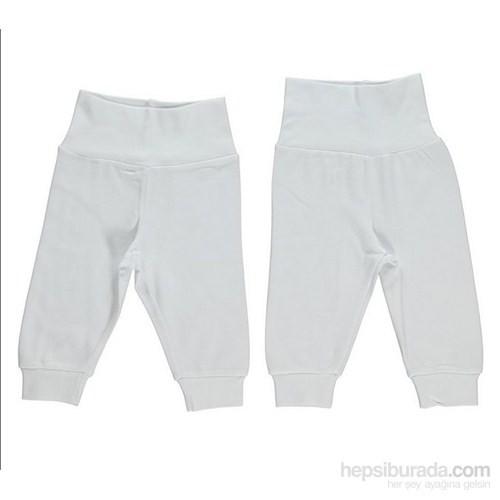 Bebetto Alt Ribanalı Ayaksız Pantolon Bbt-T144 (Beyaz)