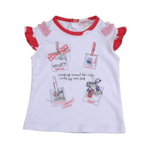 Zeyland Kız Çocuk Beyaz T-Shirt K-41M682zeb51