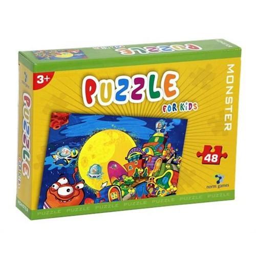 Gizzy Monster 48 Parça Çocuk Puzzle