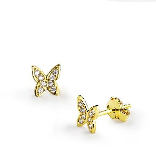 Ejoya Kelebek Altın Küpe