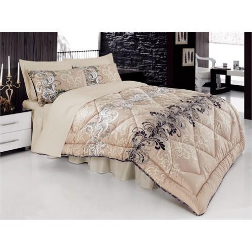 Cotton Box Saten Uyku Seti Çift Kişilik - Cemile Bej