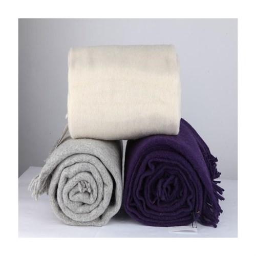Mella Home Wool Battaniye-Krem