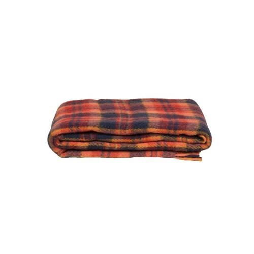 Mella Home Wool Kırmızı-Lacivert Koltuk Battaniyesi