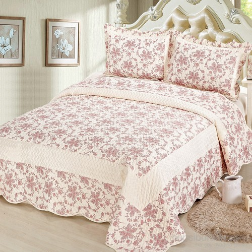 Cotton House Home Collection Nubuk Meleni Çift Kişilik Yatak Örtüsü - Pink