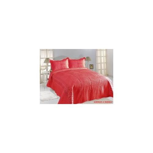 Freeteks Bravia Kırmızı-2 Pullu Model Nubuk - Tay Tüylü Yatak Örtüsü