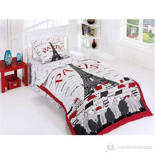 Belenay Tek Kişilik Uyku Seti Eyfel Kırmızı