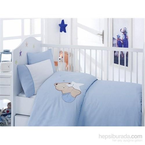 Cotton Box Lüx Nakışlı Bebek Nevresim Takımı Boo Boo Mavi