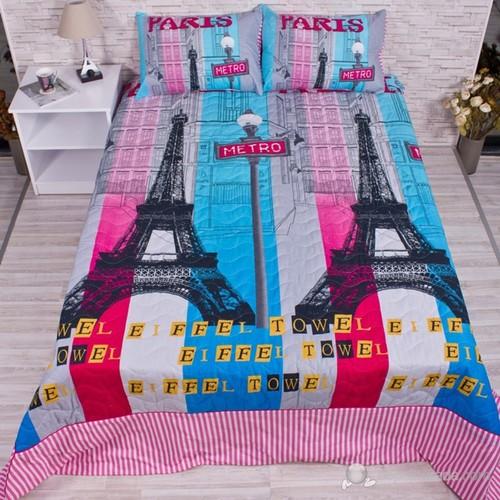 Clube Çift Kişilik Yatak Örtüsü Takımı - Paris Color