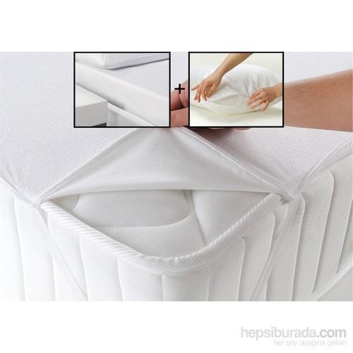 Walls Home Tek Kişilik Alez Seti-Beyaz (Yatak Koruyucu) (Çarşaf Ve Yastık Alezi Hediyeli)