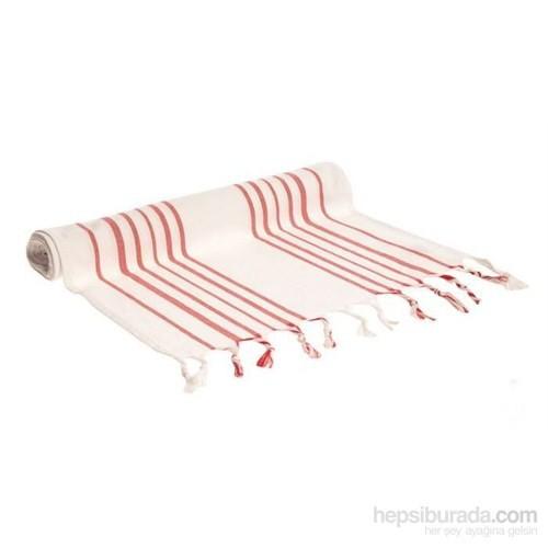 Yastıkminder Koton Beyaz Kırmızı Çizgili Runner