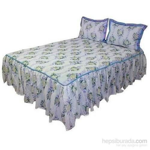 Yastıkminder Etekli Organze Tafta Yatak Örtüsü