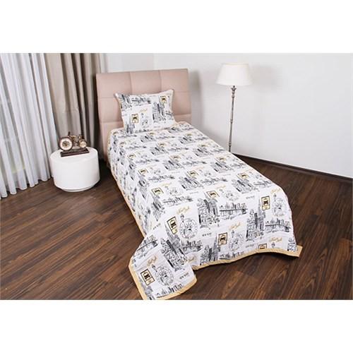 Taç Casabel Newyork Tek Kişilik Pamuk / Polyester Yatak Örtüsü
