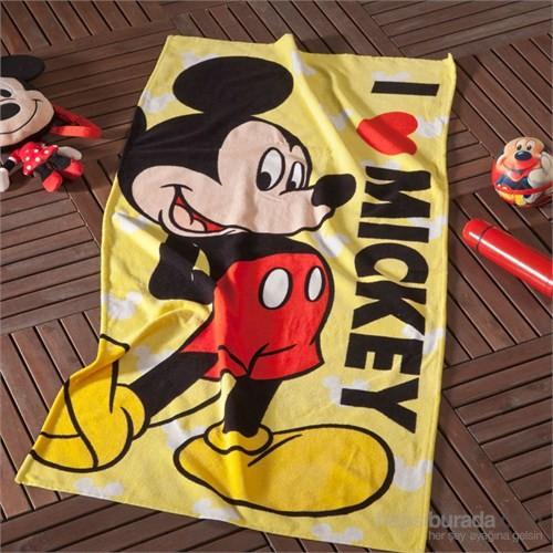 Disney Mickey Love Pamuk Plaj Havlusu