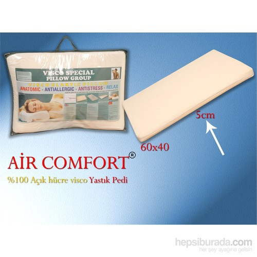 Aircomfort Visco Yastık Pedi 40x60-Yastık Koruyucu