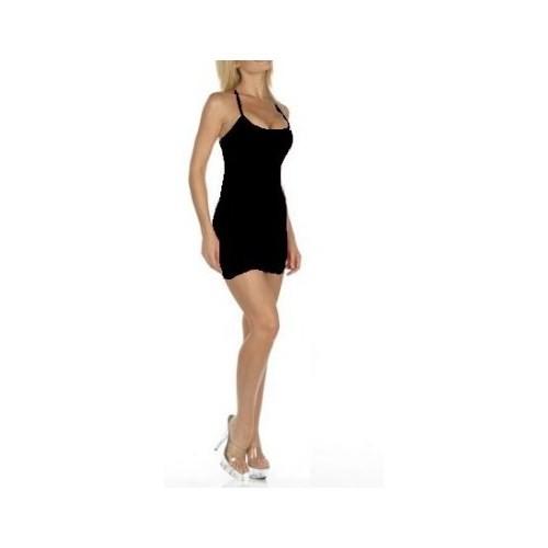 TP060826 Terry Pau Mikro Sırt Dekolteli Mini Lame Elbise