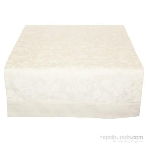 Yastıkminder Koton Beyaz Çiçek Desenli Runner