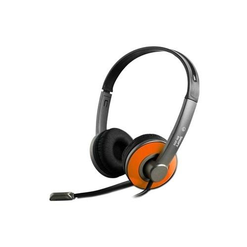 Snopy Sn-205 Turuncu Mikrofonlu Kulaklık