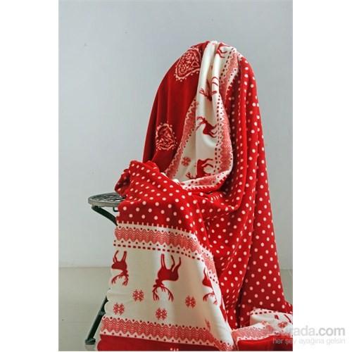 Special Home Tek Kişilik Polar Battaniye Geyik Kırmızı
