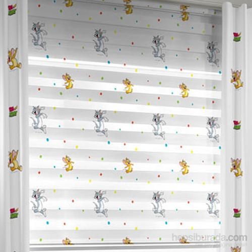 Taç Tom&Jerry Zebra Perde Çocuk Odası Lisanslı