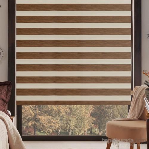 Taç Inova Kendini Temizleyen Bambu Zebra Perde Kahverengi