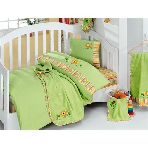 İrya Bebek Nevresim Takımı - King Yeşil