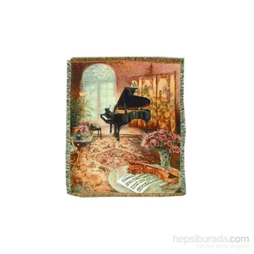 Kuyruklu Piyano Dokuma Battaniye
