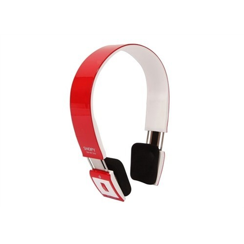 Snopy Sn-Bt300 Kırmızı/Beyaz Bluetooth Mikrofonlu Kulaklık