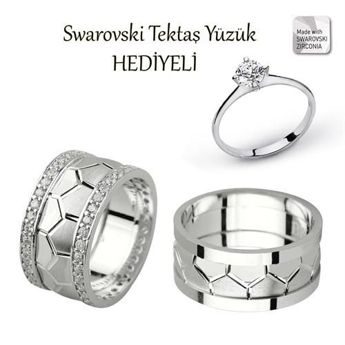 Ejoya Gümüş Çift Alyans P1076