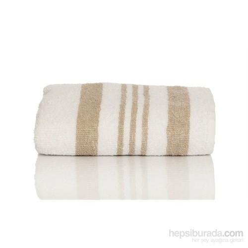 Yastıkminder Koton Bej Beyaz 50X70 Havlu