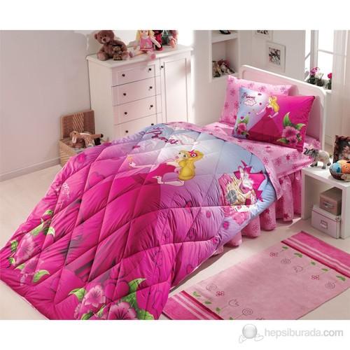 Hobby Deluxe Tek Kişilik Uyku Seti Prenses Fuşya