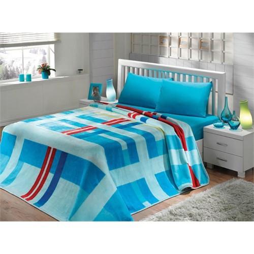 Mink Çift Kişilik Solana Battaniye 963 Mavi