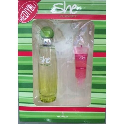 She İs Sweet Edt 50 Ml Kadın Parfüm + 11 Ml Lipgloss Kadın Set