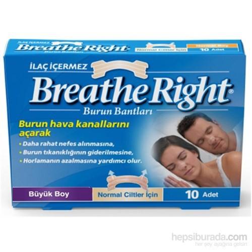 Breathe Right Burun Bandı Klasik Büyük Boy 10'lu