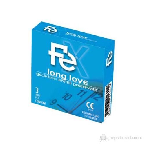 Fe Long Love Kremli Prezervatif 3'Lü