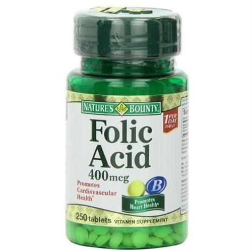 Nature's Bounty Folic Acid 400 Mcg