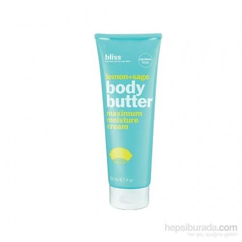 Bliss Lemon & Sage Body Butter - Limon ve Adaçayı Özleri İçeren Vücut Kremi