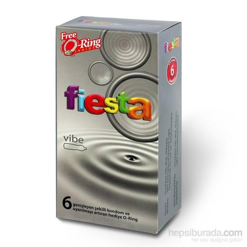 Fiesta Vibe Vibratör Etkili Titreşimli 6 Adet Ithal Prezervatif