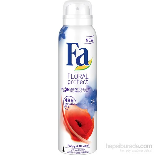 Fa Deospray Floral Protect Poppy 150ml