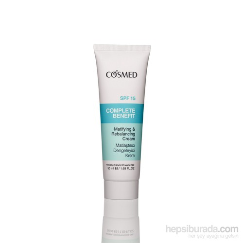 Cosmed Complete Benefit - Matifiying & Rebalancing Cream Spf15 50 Ml