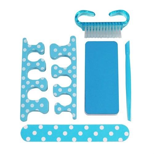 Npw Tırnak Bakım Kiti - Mavi Puantiyeli - Blue Polka Dot
