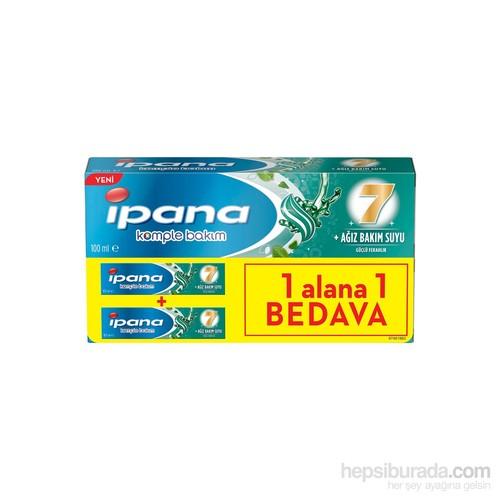 İpana Diş Macunu Komple Bakım Ağız Bakım Suyu Etkili Güçlü Ferahlık 100 ml 1 Alana 1 Bedava Paketi
