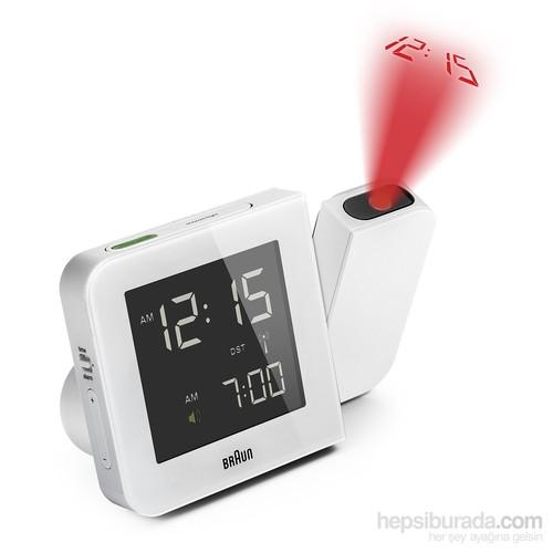 Braun Alarmlı Dijital Projeksiyon Masa Saati Beyaz-BNC015WHEU