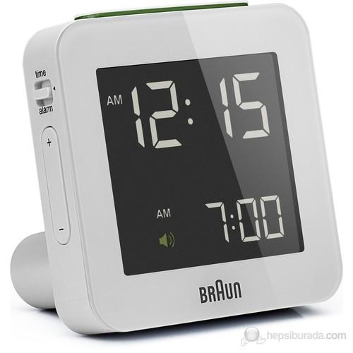 Braun Alarmlı Dijital Masa Saati Beyaz -Bnc009whwh