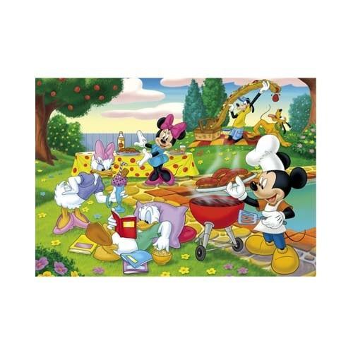 Clementoni Puzzle Mickey The Barbecue (24 Parça,Maxi)