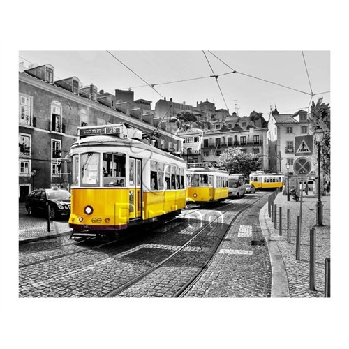 Pintoo Lisbon, Sarı Tramvaylar Plastik Puzzle 500 Parça