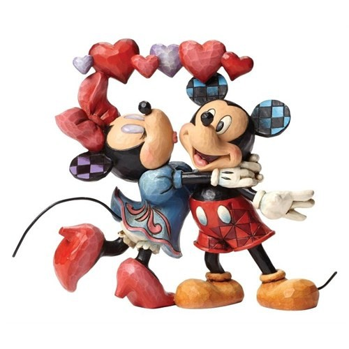"""Disney Traditions Enesco Mickey Mouse & Minnie Mouse """"Love Is In The Air"""" Figure"""