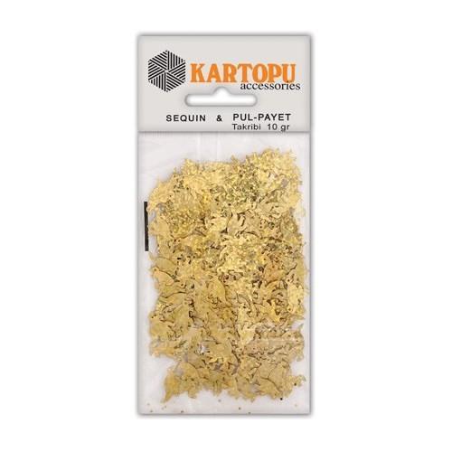 Kartopu Altın Janjan Dinazor Figürlü Figürel Pul Payet - Pp9
