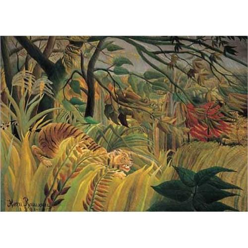 Ricordi Puzzle Tiger im tropischen Sturm, Rousseau (1500 Parça)